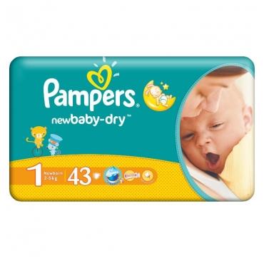 PAMPERS*PEL. 2-5 KG (1 NEWBORN) A 43