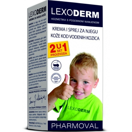 LEXODERM SET ZA VODENE KOZICE 2U1