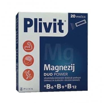 PLIVIT MAGNEZIJ DUO POWER VREĆICE 20KOM