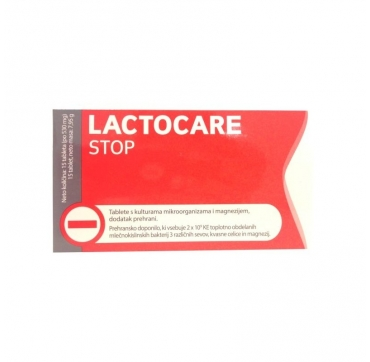 LACTOCARE STOP 530 MG 15 TABLETA