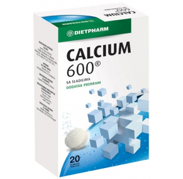 CALCIUM 600 ŠUMEĆE TABLETE DIETPHARM